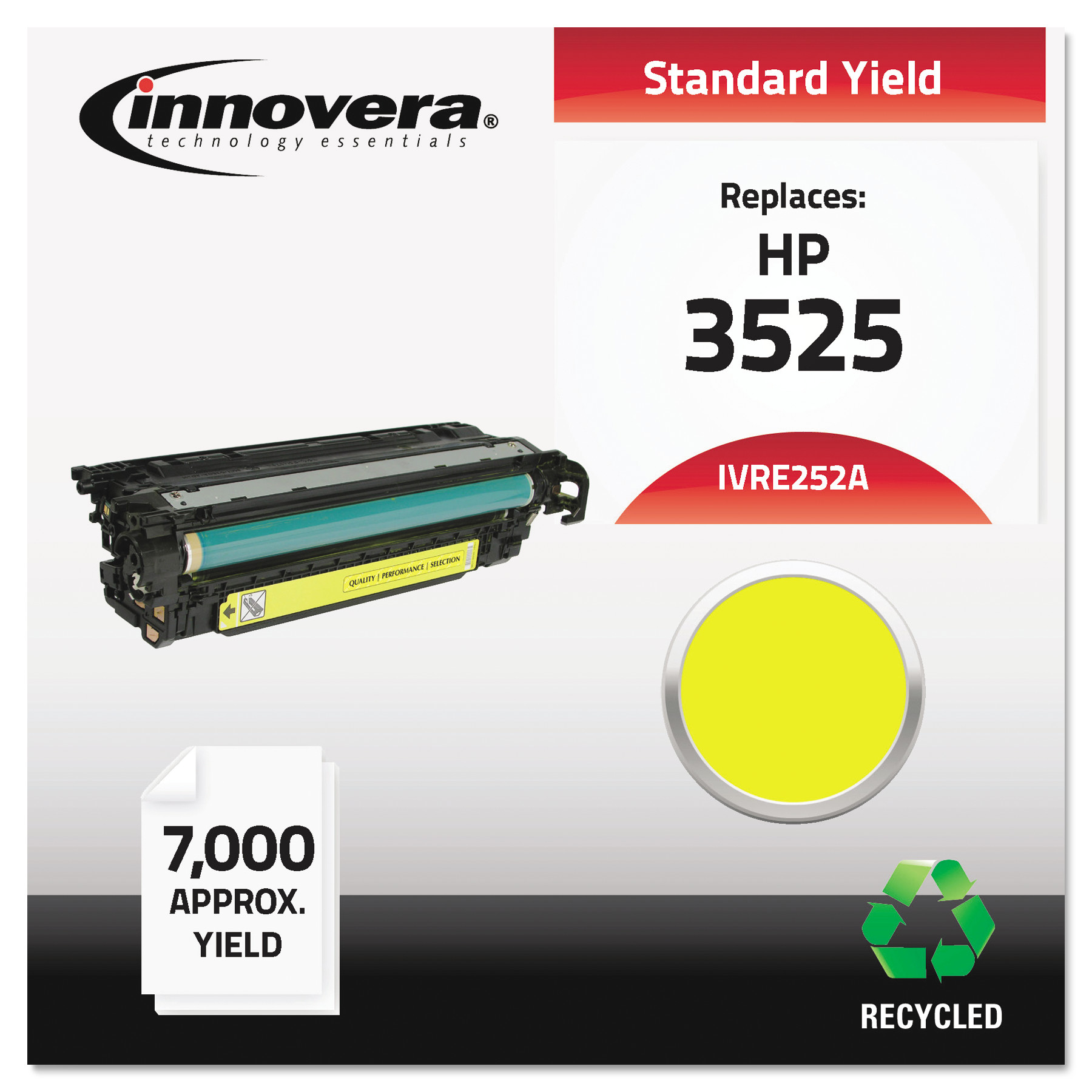 Innovera Remanufactured CE252A (504A) Laser Yellow Toner Cartridge