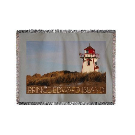 Prince Edward Island - Covehead Lighthouse - Lantern Press Photography (60x80 Woven Chenille Yarn (Cove Head)