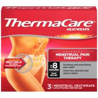 ThermaCare Advanced Menstrual Pain Therapy (3 Count) Heatwraps, Up to 8 Hours Pain Relief, Temporary Relief of Menstrual Cramp Pain, Back Aches, Discreet