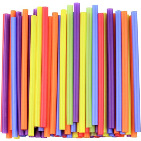 Color Changing Straws (Jumbo Smoothie Straws, Assorted Colors [100)