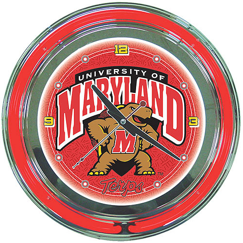 "Maryland University 14"" Neon Wall Clock"