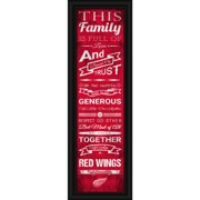 Detroit Red Wings Crackle Family Cheer Framed Art - No Size