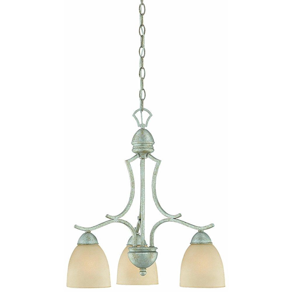 Thomas Lighting SL808172 Triton Collection 3 Light Chandelier, Moonlight Silver by