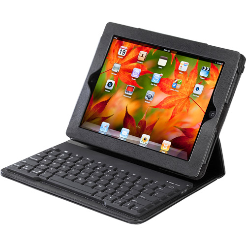 Accessory Workshop TY-109 tyPad Bluetooth Keyboard Case for iPad 2 and The New iPad, PU Leather Finish
