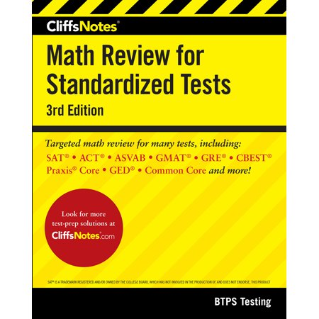 CliffsNotes Math Review for Standardized Tests 3rd