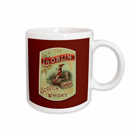 3dRose Vintage The Goblin Scotch Whisky Label - Ceramic Mug, (Scotch Whisky Distilleries)