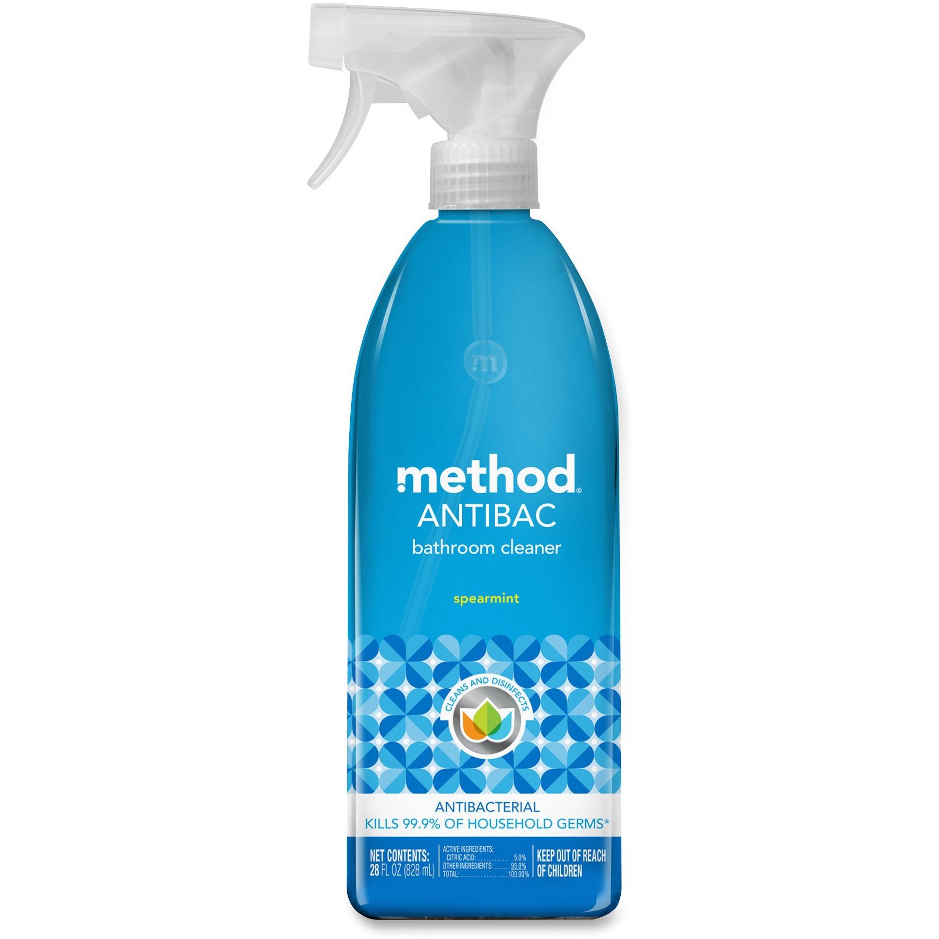 Method, MTH01152, Spearmint Antibacterial Bathroom Cleaner, 1 Each, Green
