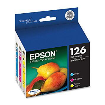 Epson 126 DURABrite Ultra High Capacity Cyan Magenta Yellow Ink Cartridge Multipack (3 x 470 Yield) T126520 by Epson