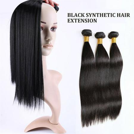 Straight Hair Weave Bundles Deals Double Drawn Raw Unprocessed Virgin Wear - image 4 of 9