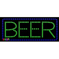 """19""""x9.5"""" Neon By Deon Beer LED Sign w/Flashing Controller"""