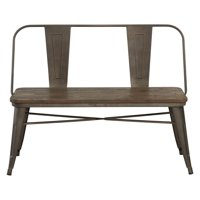 Industrial Style Dining Bench, White