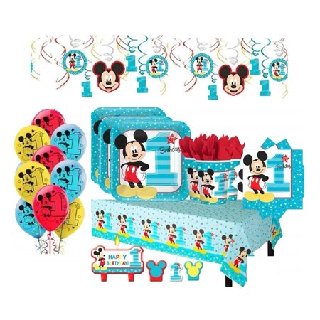 Mickey Mouse 1st Birthday Mega Party for 16 Guests - Shipped Fedex - Halloween 1st Birthday Party Themes