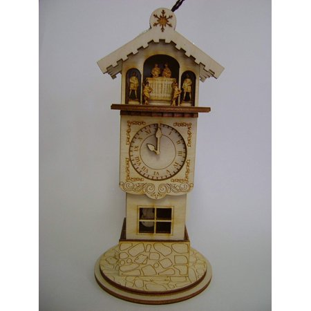 Clock Tower Wooden Ornanment Ginger Cottage, The Ginger Cottages Clock Tower is part of the Ginger Cottages Collection By Ginger Cottages ()