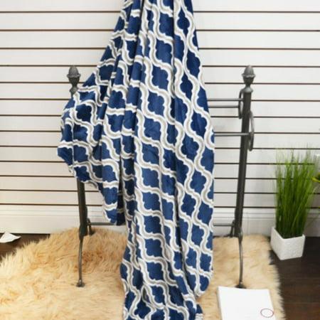 De Moocci Geometric Plush Soft Throw Blanket