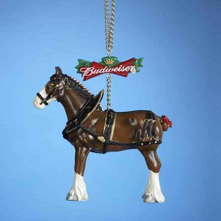 Club Pack Of 12 Budweiser Beer Clydesdale Horse Christmas Ornaments 4 Walmart Com Walmart Com