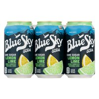 Blue Sky Cane Sugar Lemon Lime Soda, 12.0 FL OZ