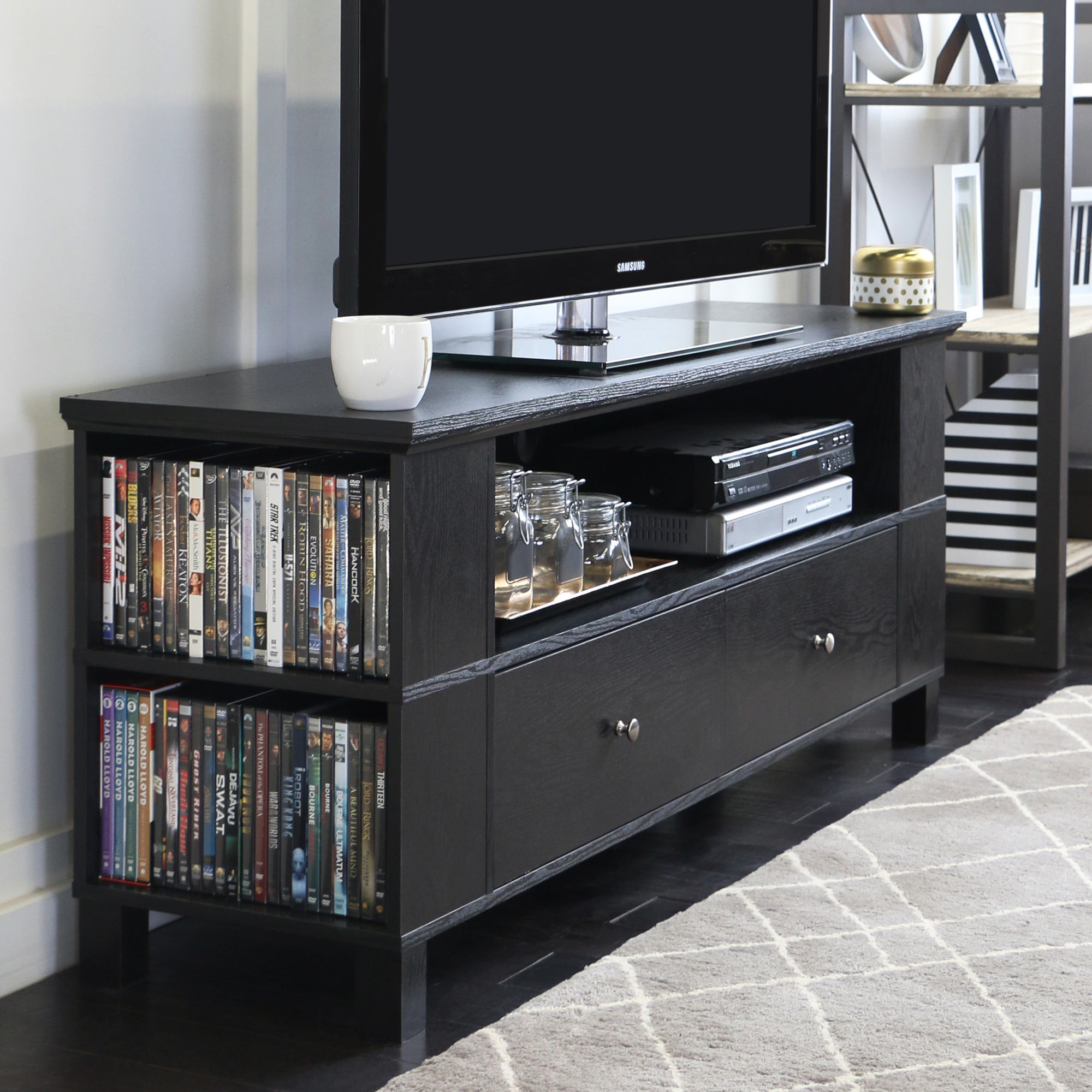 Walker Edison Black TV Stand for TVs up to 60""