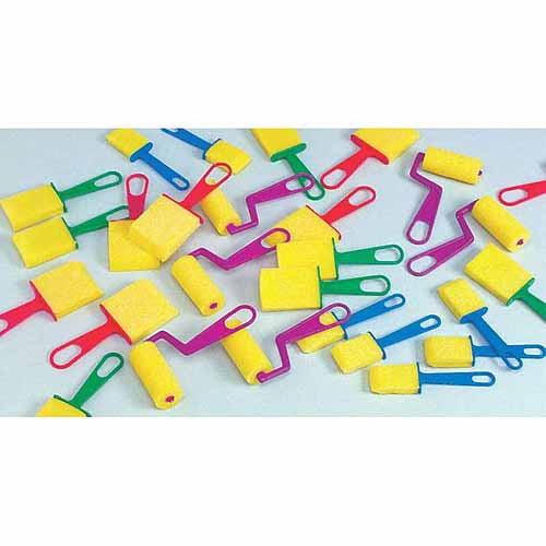 School Smart Foam Brushes Set, Assorted Sizes, 40pk