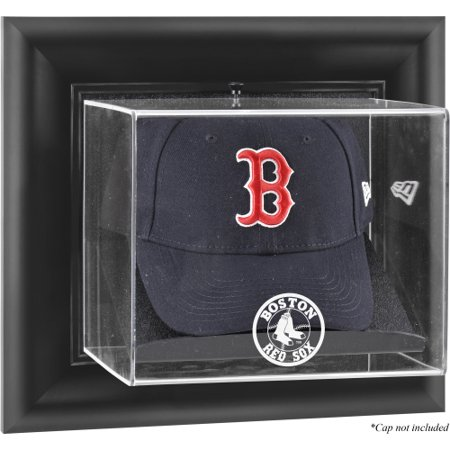 Boston Red Sox Fanatics Authentic Black Framed Wall-Mounted Logo Cap Display Case - No Size Boston Red Sox Case