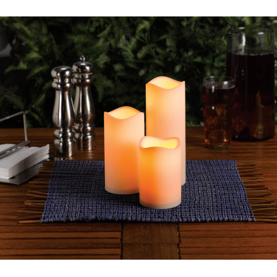 Mainstays Flameless Led Candles Battery Operated Decorative Light Set Walmart Com