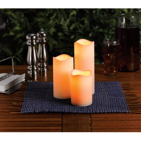 Mainstays Flameless LED Candles Battery Operated Decorative Light Set - Walmart.com