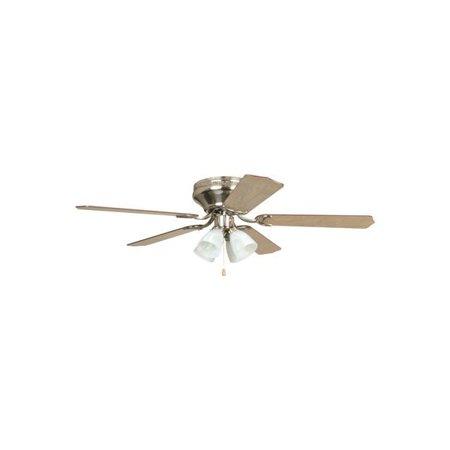 Ellington Brilliante 52 In. Brushed Nickel Hugger-Mount Ceiling Fan With 4 Tulip Light Kit - (Ellington Lighting)