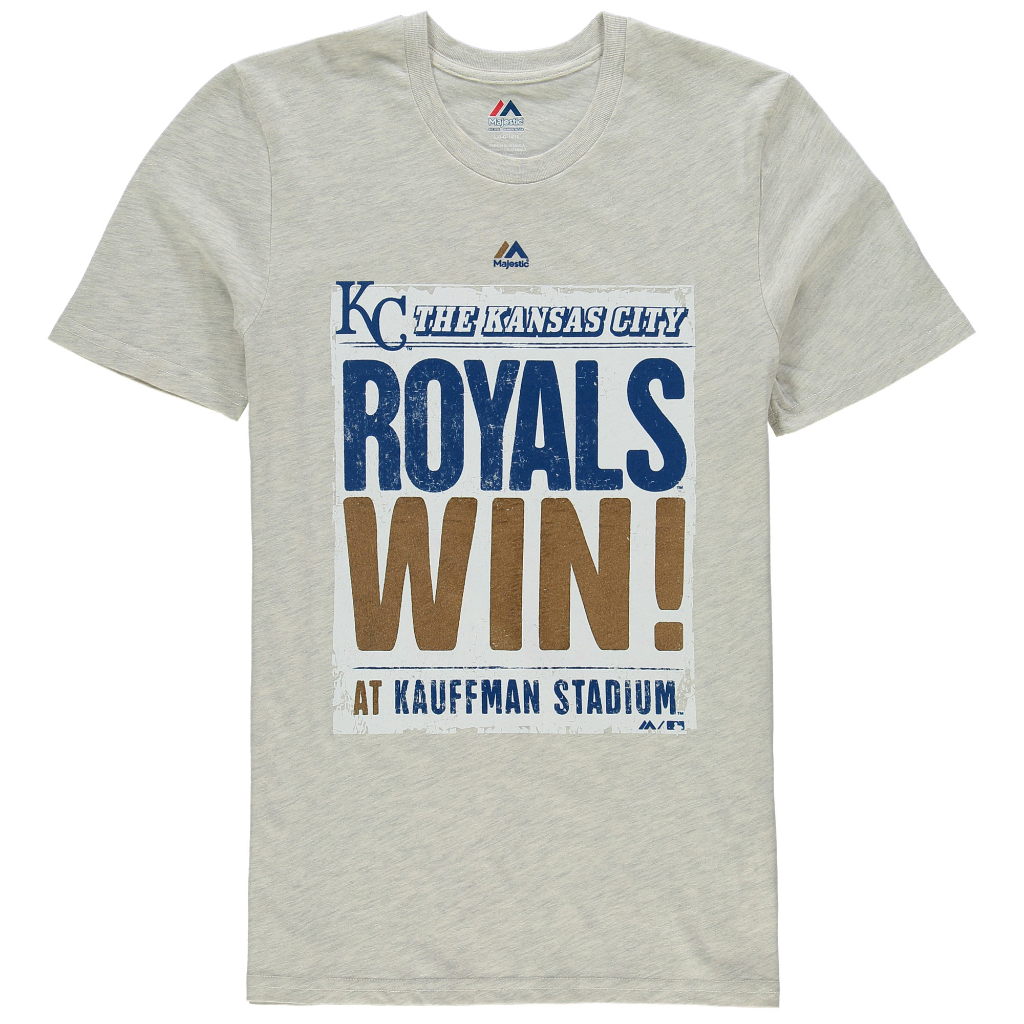 Kansas City Royals Majestic Youth Front Page T-Shirt - Cream