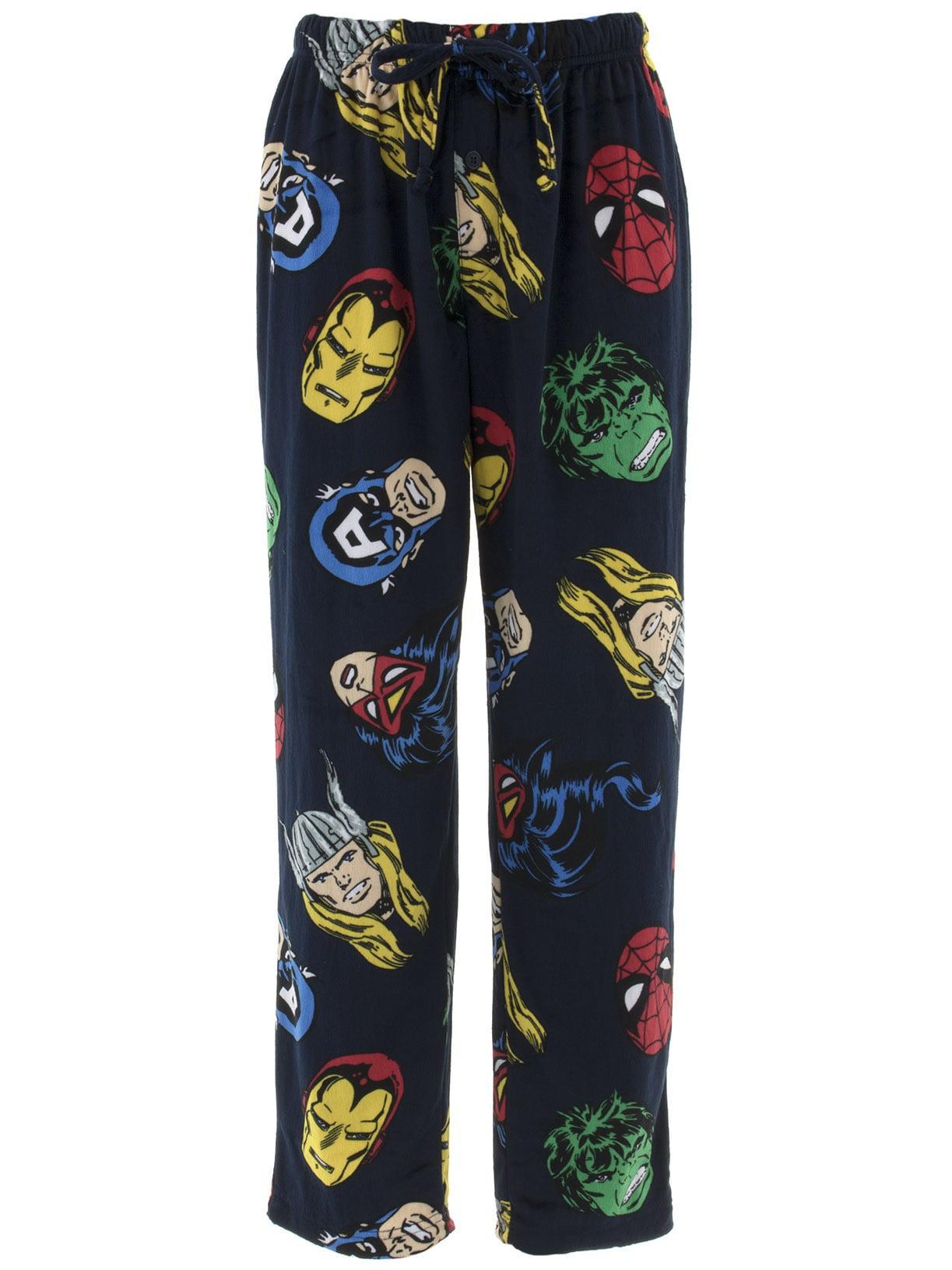 Marvel Men's Avengers Navy Sueded Fleece Pajama Pants