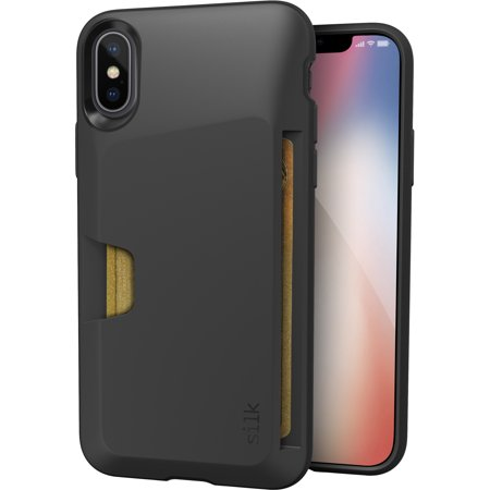 differently cfdfc 404db Silk iPhone X/XS Wallet Case - Wallet Slayer Vol. 1 [Slim + Protective]  Credit Card Holder for Apple iPhone 10 - Black Tie Affair
