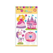 """Best Creation Sticker Wall Decor 16"""" 3D Princess"""