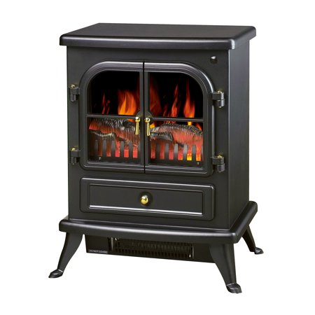 "HomCom 17"" 1500W Free Standing Electric Wood Stove Fireplace w/  Remote"