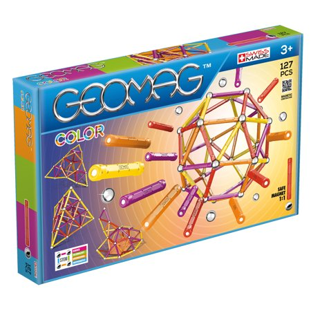 Geomag Color Magnetic Ball and Rods Set - Pink 127 pieces