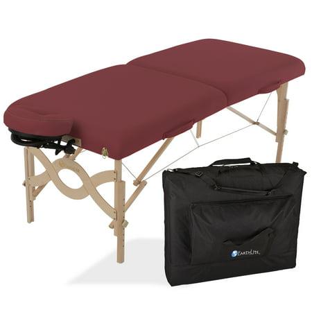 Earthlite Reiki Tables (EARTHLITE Avalon Portable Massage Table Package Flat \xe2\x80\x93 Reiki Endplate, Premium Flex-Rest Face Cradle & Strata Cushion, Carry Case (30\xe2\x80\x9dx73\xe2\x80\x9d) )