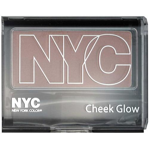 NYC New York Color Cheek Glow Single Pan Blush, Riverside Rose 651, 0.28 oz
