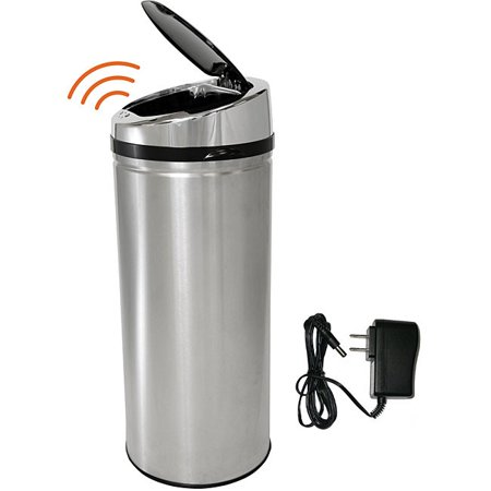 iTouchless 42 Liter Automatic Stainless Steel Touchless Trash Can NX