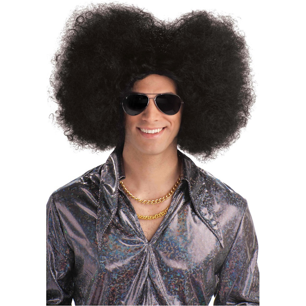 Flat Fro Wig Adult Costume Accessory