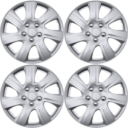 4 Piece Set A/M Silver ABS Fits 2010 2011 TOYOTA CAMRY 15