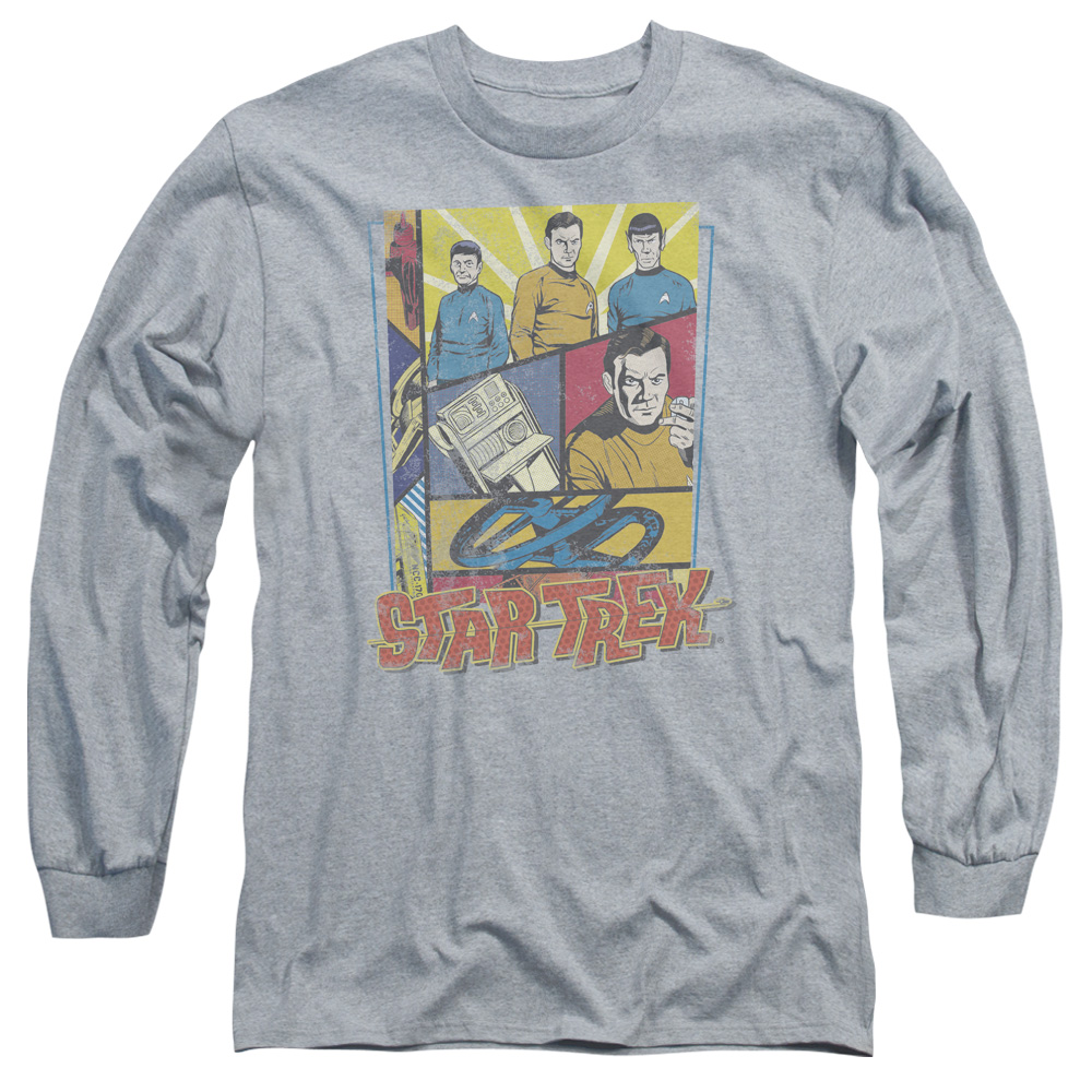 STAR TREK/VINTAGE COLLAGE - L/S ADULT 18/1 - HEATHER - MD