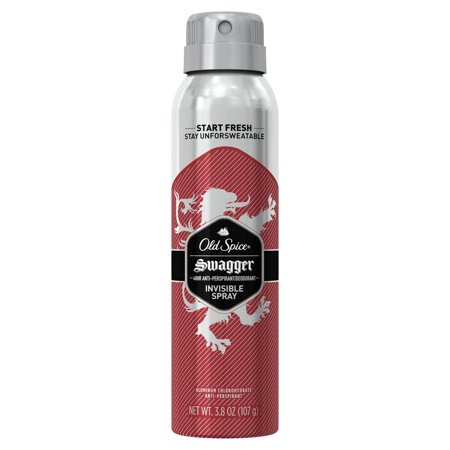 Mens Invisible Set - Old Spice Invisible Spray Antiperspirant and Deodorant for men, Swagger, 3.8 oz