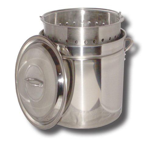King Kooker #KK36SR 36 qt Stainless Steel Pot, Basket, Lid by King Kooker