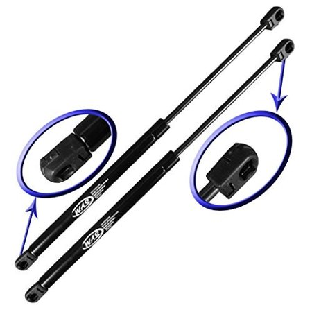 Two Rear Window Glass Gas Charged Lift Supports for 1984-1990 Ford Bronco II. Left and Right Side. WGS-374-2 Ford Bronco Window