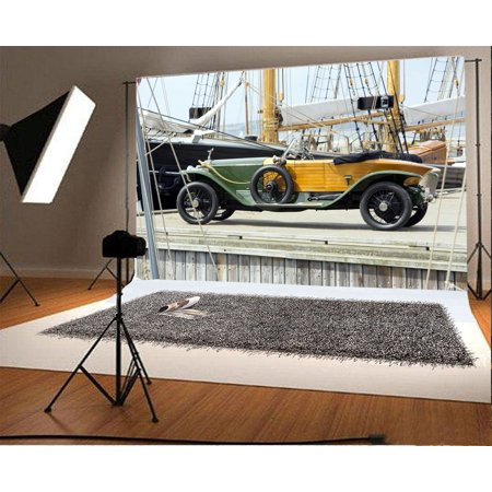 EREHome Polyester Fabric Roadster Backdrop 7x5ft Photography Background Wharf Deck Rope Photos Video Studio Props - image 1 of 3