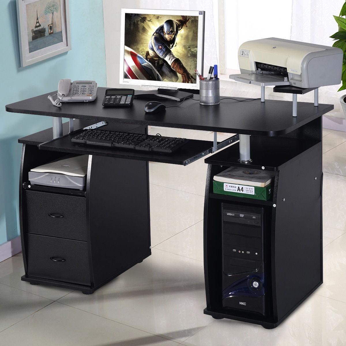 pretty nice 0a2e7 caa07 Costway Computer PC Desk Work Station Office Home Monitor&Printer Shelf  Furniture Black
