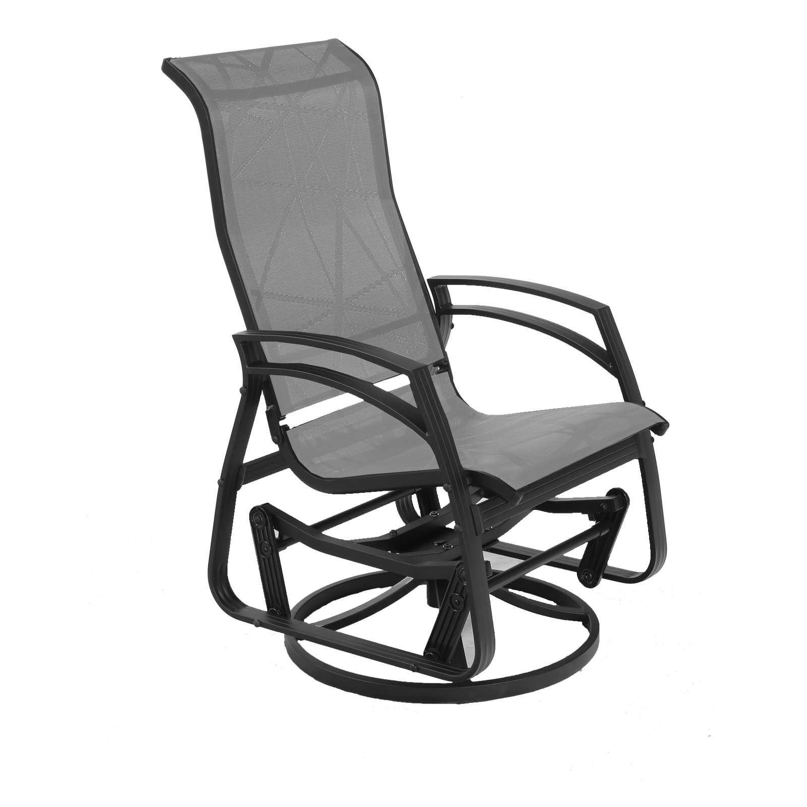 Dura Housewares Kansas Dallas Aluminum Swivel Glider Chair