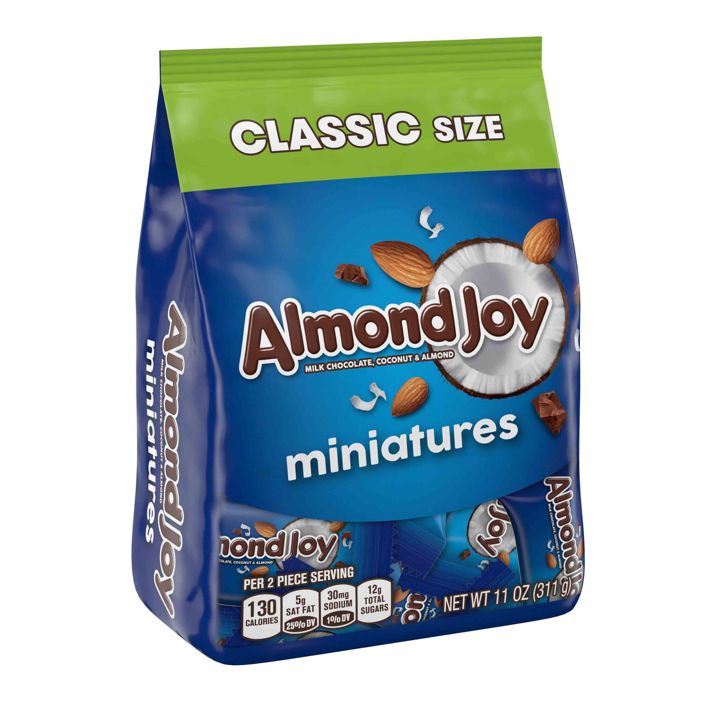 (3 Pack) Almond Joy, Milk Chocolate Coconut & Almonds Candy Miniatures, 11 Oz