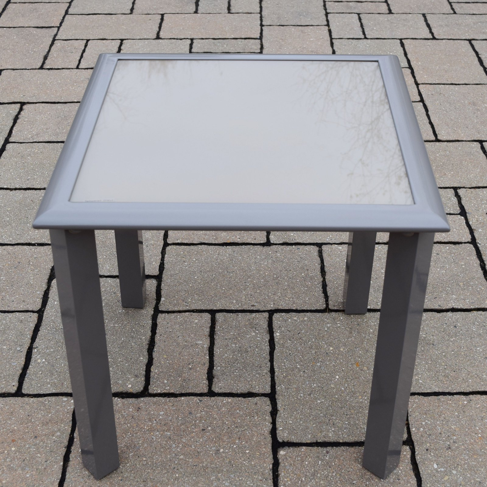 Oakland Living 18 in. Tempered Glass Aluminum Side Table by Oakland Living