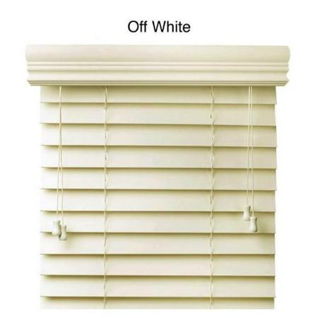 faux wood 34 inch blinds off white 34 x 73. Black Bedroom Furniture Sets. Home Design Ideas