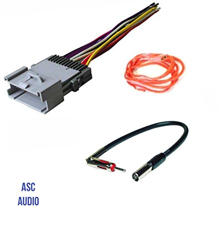 asc audio car stereo wire harness and antenna adapter for some buick rh walmart com GM Radio Wiring Harness Diagram GM Car Stereo Wiring Harnesses