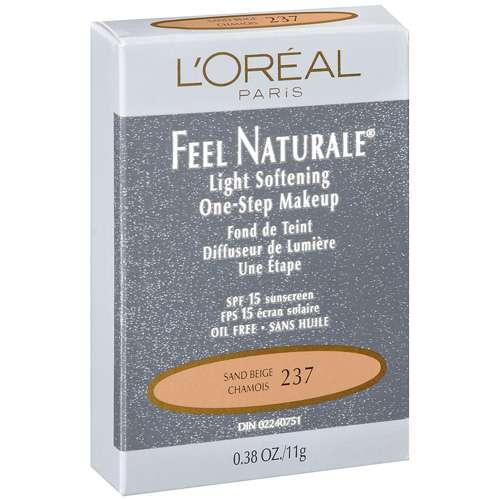 l'oreal paris feel naturale powder, sand beige, 0.38 ounce