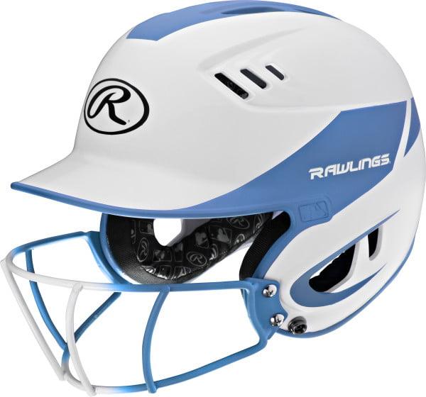 Rawlings Velo Senior 2-Tone Softball Batting Helmet w Faceguard